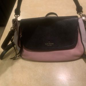 Kate Spade pink, black and off white purse